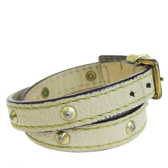 Louis Vuitton Lvory Studded Leather France Bracelet Image 3
