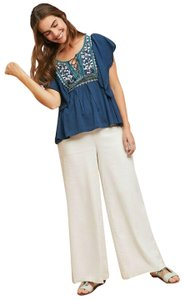 Anthropologie By Ranna Top Blue