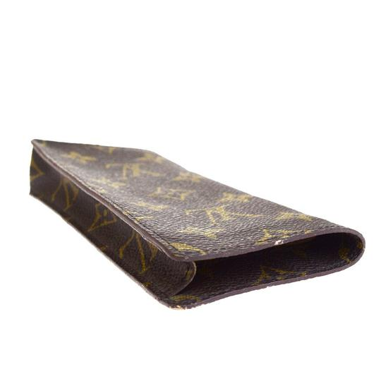 Louis Vuitton LOUIS VUITTON Simple Eye Glasses Case Monogram Brown Image 4