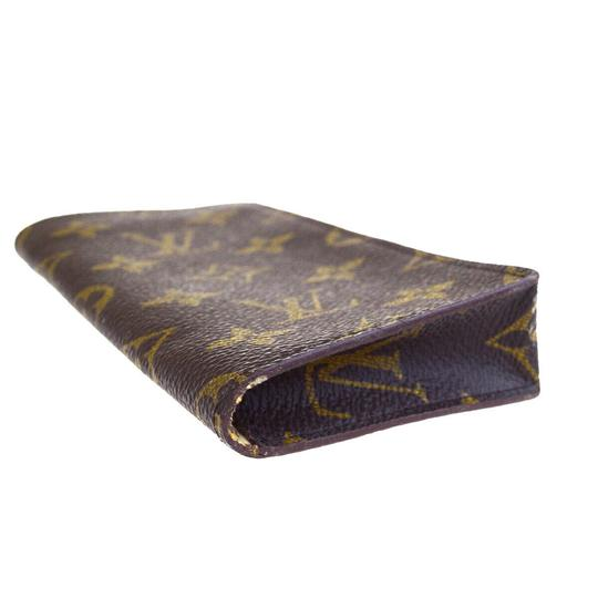 Louis Vuitton LOUIS VUITTON Simple Eye Glasses Case Monogram Brown Image 5