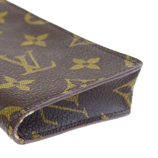 Louis Vuitton LOUIS VUITTON Simple Eye Glasses Case Monogram Brown Image 6
