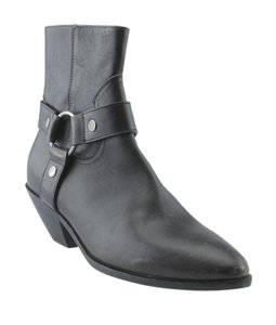 Saint Laurent Yves Ankle Leather Grey Boots
