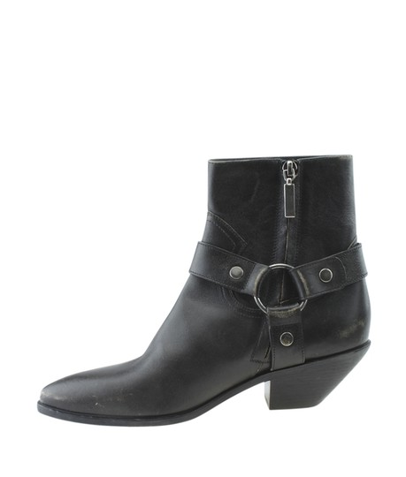 Saint Laurent Yves Ankle Leather Grey Boots Image 3