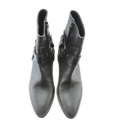 Saint Laurent Yves Ankle Leather Grey Boots Image 4