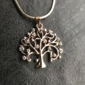 Other Rose Gold Tree of Life Necklace Pendant Cubic Zirconia Gold Plated Image 2