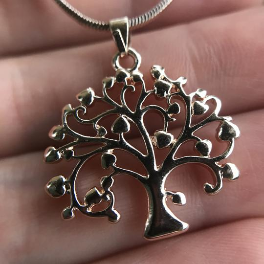 Other Rose Gold Tree of Life Necklace Pendant Cubic Zirconia Gold Plated Image 5