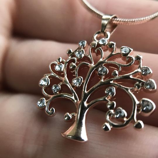 Other Rose Gold Tree of Life Necklace Pendant Cubic Zirconia Gold Plated Image 9