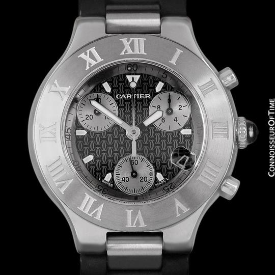 Cartier Cartier 21C Mens Chronoscaph Chronograph, Ref. 2424 - Stainless Steel Image 1