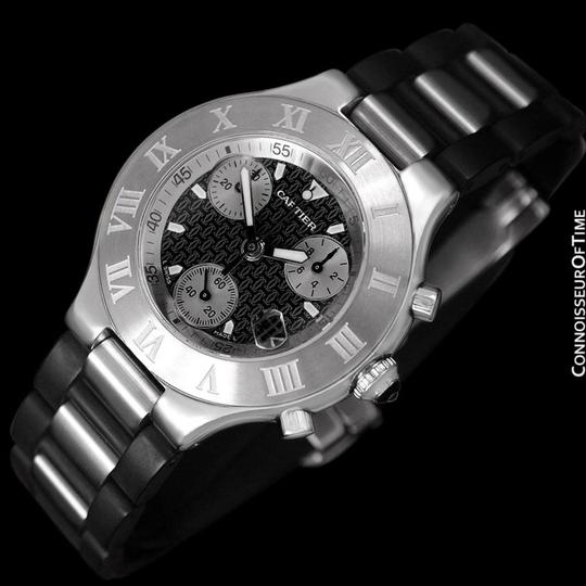 Cartier Cartier 21C Mens Chronoscaph Chronograph, Ref. 2424 - Stainless Steel Image 2