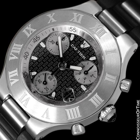 Cartier Cartier 21C Mens Chronoscaph Chronograph, Ref. 2424 - Stainless Steel Image 3
