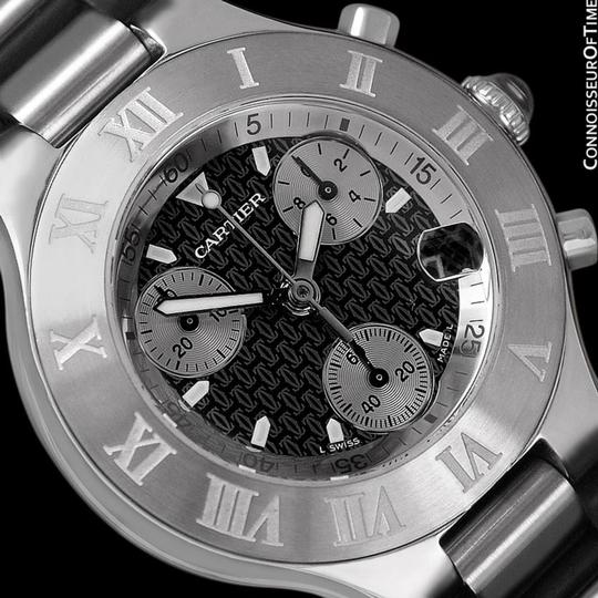 Cartier Cartier 21C Mens Chronoscaph Chronograph, Ref. 2424 - Stainless Steel Image 4
