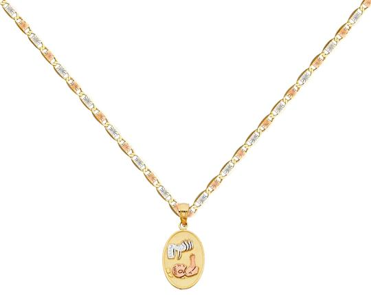 Preload https://img-static.tradesy.com/item/26023723/tri-color-14k-baptism-pendant-with-15mm-valentono-chain-16-necklace-0-1-540-540.jpg