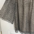 3.1 Phillip Lim Silk Woven Silk Lined Silk Pullover Top Black and Tan Image 4