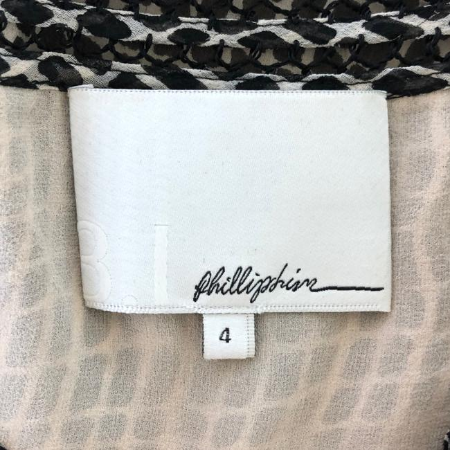 3.1 Phillip Lim Silk Woven Silk Lined Silk Pullover Top Black and Tan Image 5