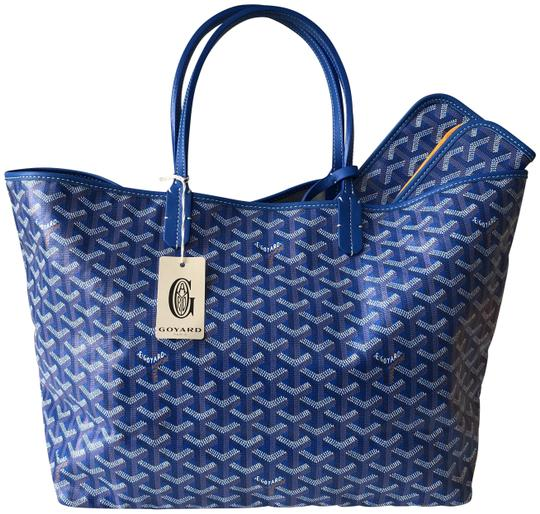 Preload https://img-static.tradesy.com/item/26023735/goyard-classic-chevron-st-louis-pm-blue-coated-canvas-and-leather-tote-0-1-540-540.jpg