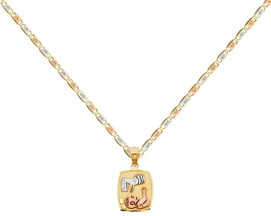 Preload https://img-static.tradesy.com/item/26023741/tri-color-14k-baptism-pendant-with-15mm-valentono-chain-18-necklace-0-1-540-540.jpg