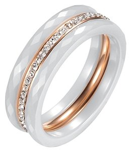 The Triple Stack Ring 18k rose gold Plated & Ceramic