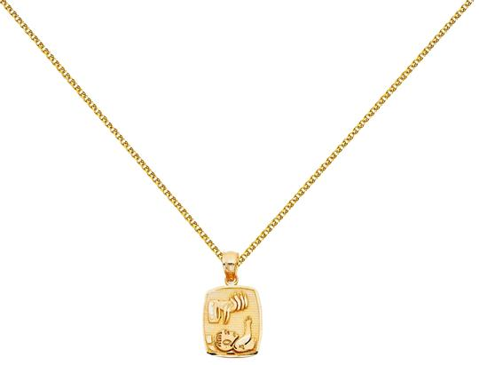 Preload https://img-static.tradesy.com/item/26023784/yellow-14k-baptism-pendant-with-15mm-flat-open-wheat-chain-16-necklace-0-2-540-540.jpg