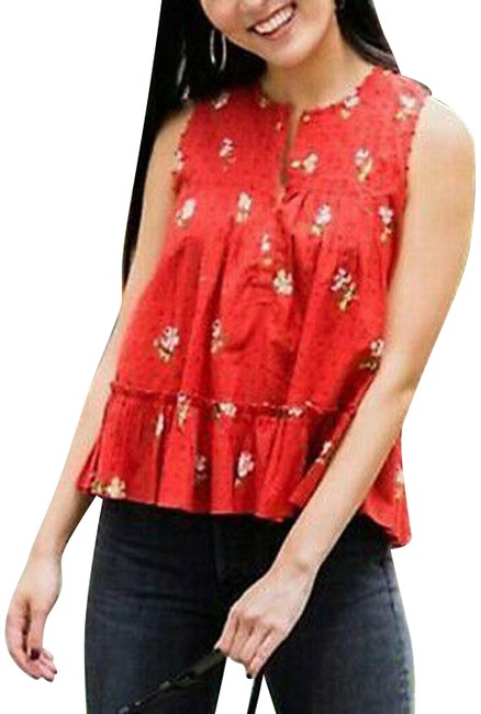 Preload https://img-static.tradesy.com/item/26023789/ulla-johnson-red-xs-new-cecile-floral-printed-embroidered-blouse-tank-topcami-size-2-xs-0-1-650-650.jpg