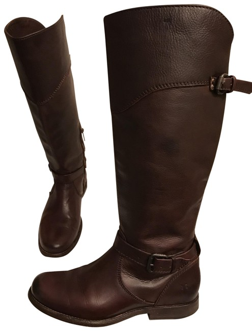 Frye Brown Leather Phillip Riding Motorcycle Boots/Booties Size US 7 Regular (M, B) Frye Brown Leather Phillip Riding Motorcycle Boots/Booties Size US 7 Regular (M, B) Image 1