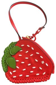 Tory Burch strawberry coin pouch purse key fob