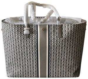 Tory Burch Gemini Link Everyday Tote in french gray