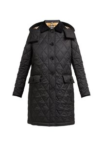 Burberry Quilted Logo Fall Winter Trench Coat