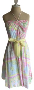 Lilly Pulitzer short dress multi colored: pink blue yellow green on Tradesy