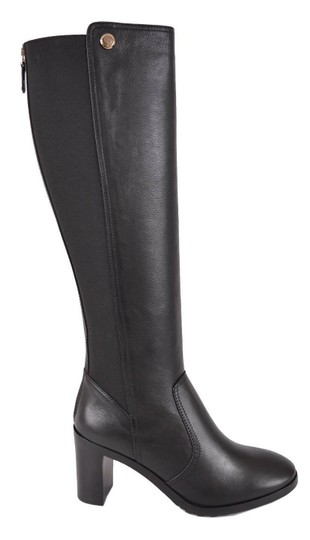 Tory Burch Riding Winter Leather Knee High Black Boots Image 1