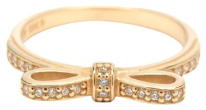 PANDORA Sparkling Bow Stackable Ring, Clear CZ & 14K Gold