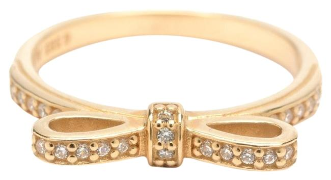 PANDORA 14k Gold Sparkling Bow Stackable Clear Cz & Ring PANDORA 14k Gold Sparkling Bow Stackable Clear Cz & Ring Image 1