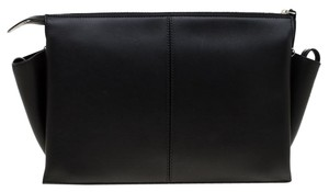 Céline Leather Chain Black Clutch