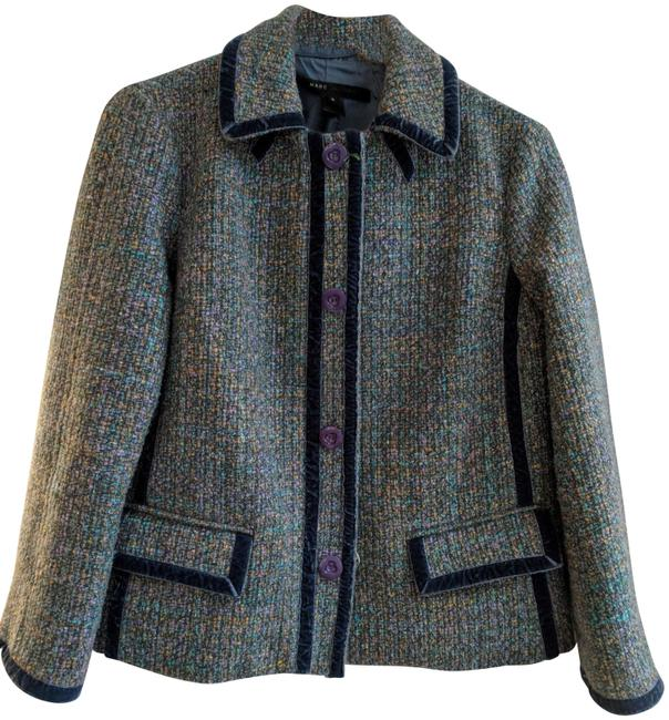 Marc Jacobs Turquoise Blue Tweed Blazer Size 8 (M) Marc Jacobs Turquoise Blue Tweed Blazer Size 8 (M) Image 1