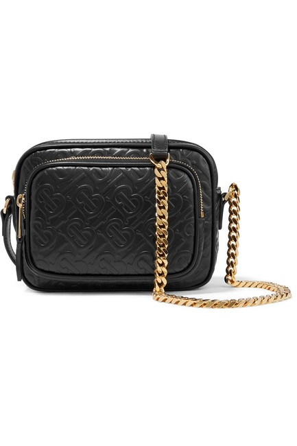 Burberry Shoulder Leather-trimmed Checked Cotton-canvas Cross Body Bag Burberry Shoulder Leather-trimmed Checked Cotton-canvas Cross Body Bag Image 1