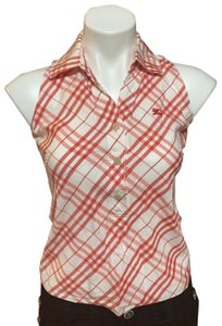 Burberry Blue Label Top Red & White stripe