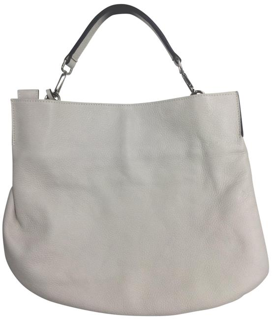 Gianni Chiarini White Leather Hobo Bag Gianni Chiarini White Leather Hobo Bag Image 1