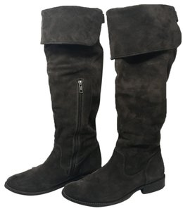 Frye Over The Knee Grey Color Smoke Boots