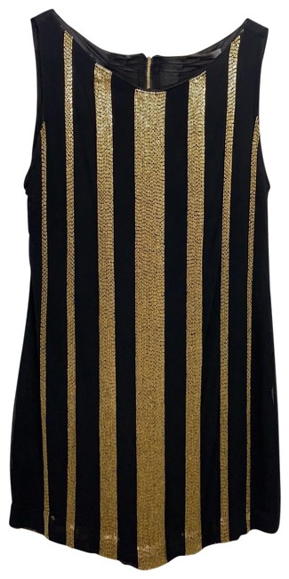 Item - Black and Gold As Seen On Pictures Short Night Out Dress Size 4 (S)