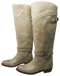 Frye Riding Leather Taupe Boots