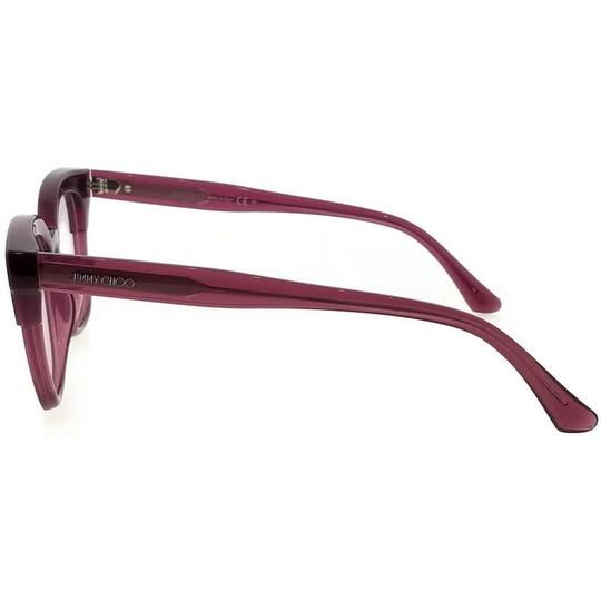 Jimmy Choo JC176-197-49 Square Women's Plum Glitter Frame Clear Lens Eyeglasses Image 2