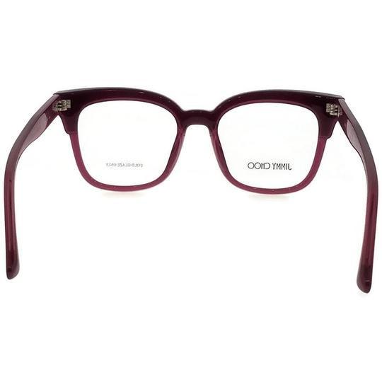 Jimmy Choo JC176-197-49 Square Women's Plum Glitter Frame Clear Lens Eyeglasses Image 3