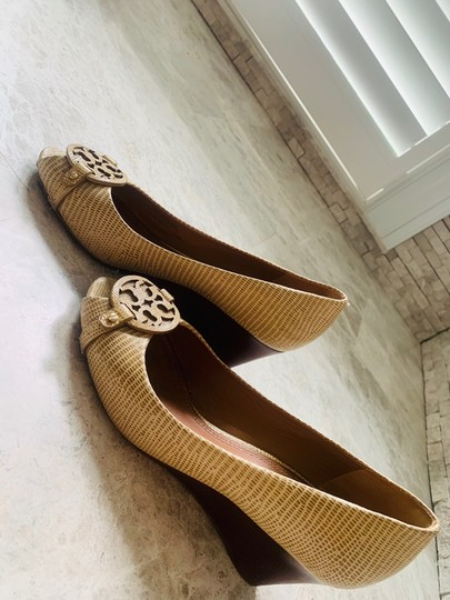 Tory Burch tan neutral Wedges Image 1