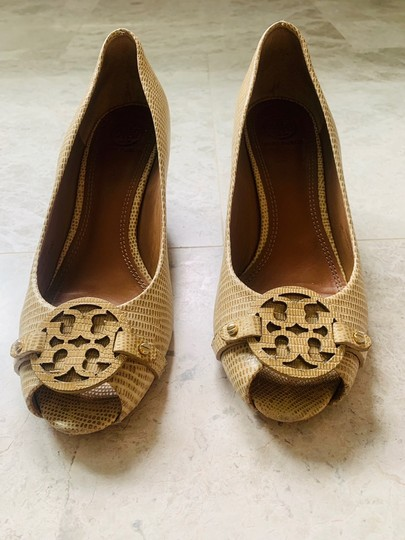Tory Burch tan neutral Wedges Image 2