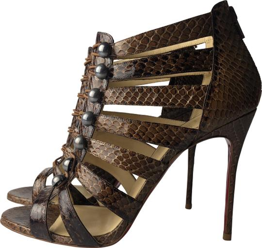 Preload https://img-static.tradesy.com/item/26025280/christian-louboutin-brown-denis-100-buttoned-caged-snakeskin-sandals-pumps-size-eu-395-approx-us-95-0-2-540-540.jpg