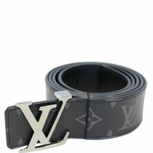 Louis Vuitton LOUIS VUITTON LV Initiales Monogram Eclipse Canvas Reversible Belt