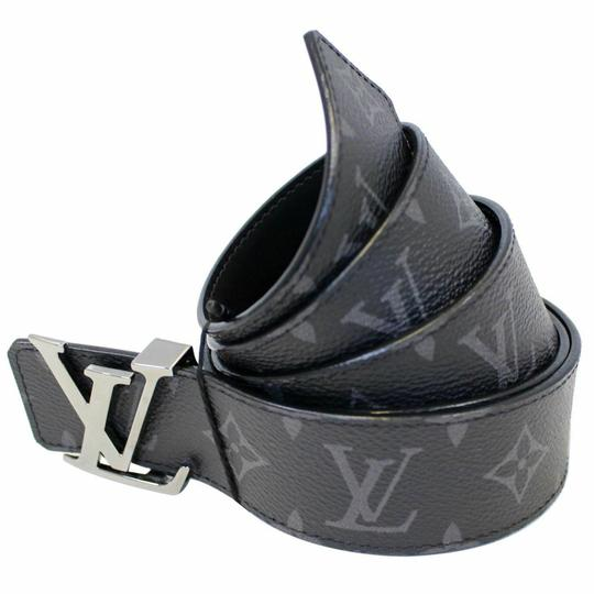 Louis Vuitton LOUIS VUITTON LV Initiales Monogram Eclipse Canvas Reversible Belt Image 1