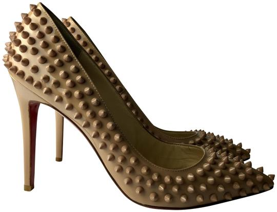 Preload https://img-static.tradesy.com/item/26025352/christian-louboutin-nude-pigalle-100-spikes-patent-pumps-size-eu-40-approx-us-10-regular-m-b-0-2-540-540.jpg
