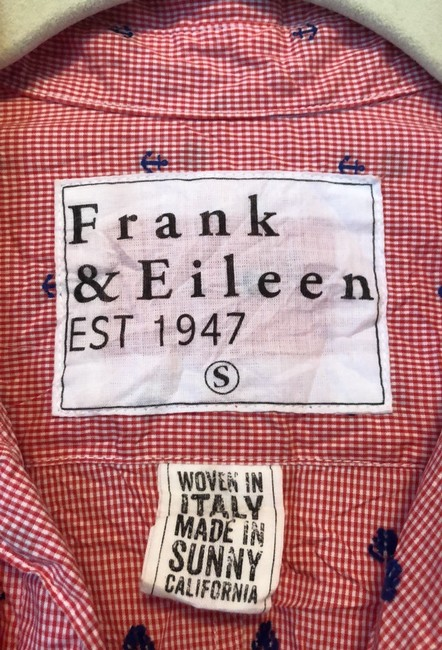 Frank & Eileen Button Down Shirt Red, white and blue Image 1