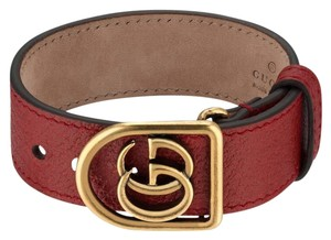Gucci Marmont Double G leather bracelet SIZE SMALL