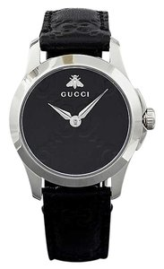 Gucci YA126579 G-Timeless Collection stainless steel and leather watch